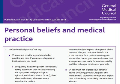 New Gmc Guidance On Personal Beliefs And Medical Practice Still