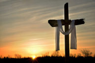 Empty-Cross-with-Cloth-Draped-Outdoors